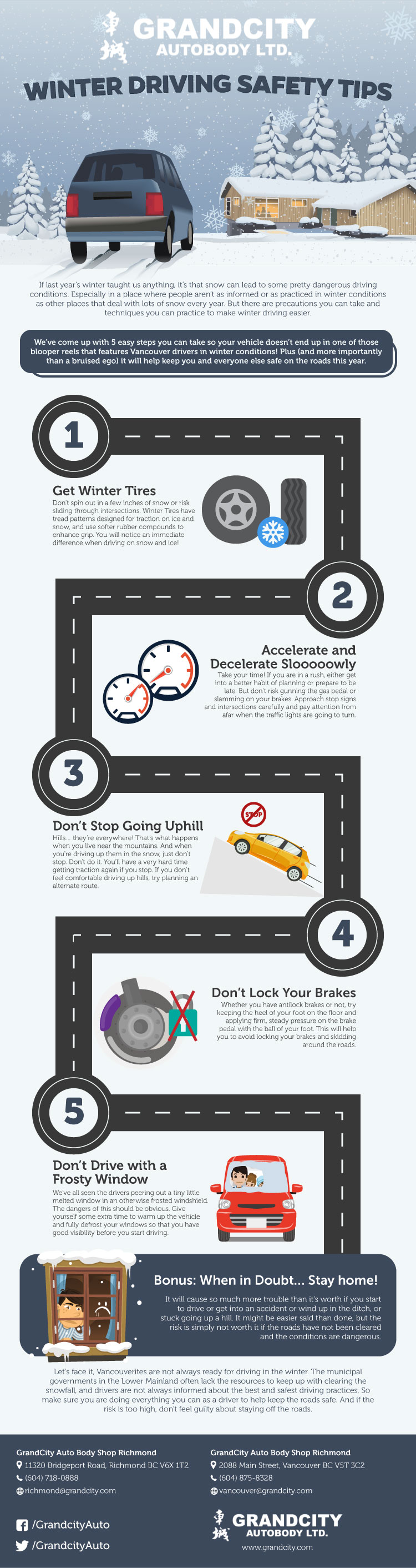 2020 infographics of winter driving tips in vancouver